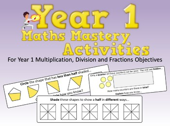Multiplication, Division and Fractions Mastery Activities Year 1