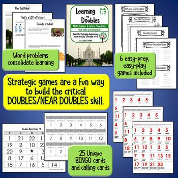 Learning my Doubles (& Near Doubles) for grades 1 & 2
