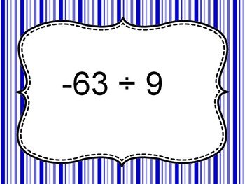 Multiplication & Division of Integers Bingo PPT with Blank Cards 7.NS.A.2