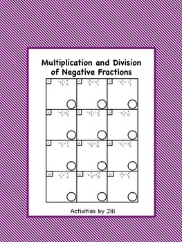 Multiplication Division of Negative Fractions