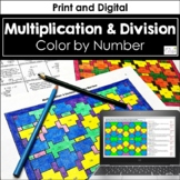 Multiplication & Division of Whole Numbers Color by Number