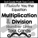 Multiplication & Division on a Number Line Task Cards
