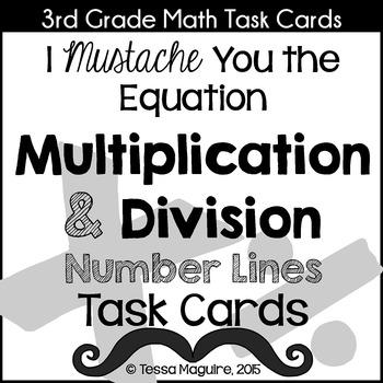 Multiplication & Division on a Number Line Task Cards