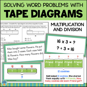 Problem Solving With TAPE DIAGRAMS - Multiplication and Division