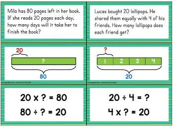 TAPE DIAGRAMS Multiplication and Division Problem Solving by FishyrobbTeachers Pay Teachers