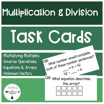 Multiplication & DivisionTask Cards
