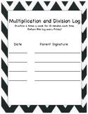 Multiplication/Divison Log