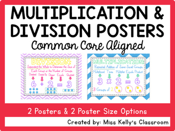 Multiplication & Division Posters (Common Core Aligned)