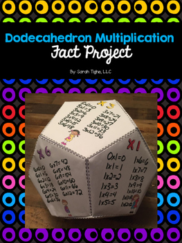 Multiplication Dodecahedron Project