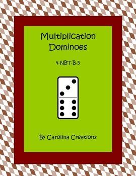 Multiplication Dominoes Fourth Grade Common Core Math 4.NBT.B.5