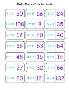Multiplication Dominoes Fun!