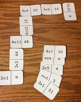 Multiplication Dominoes Game
