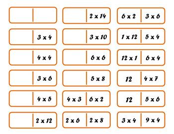 Multiplication Dominoes or Timesominoes