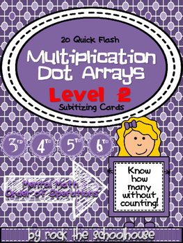 Multiplication Dot Arrays - Level 2: Subitizing Cards