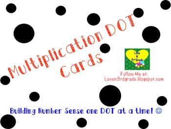 Multiplication Dot Cards