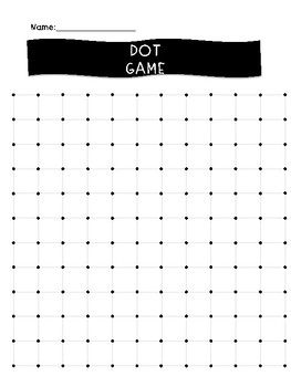 Multiplication Dots/Squares Game 10 Sided Dice