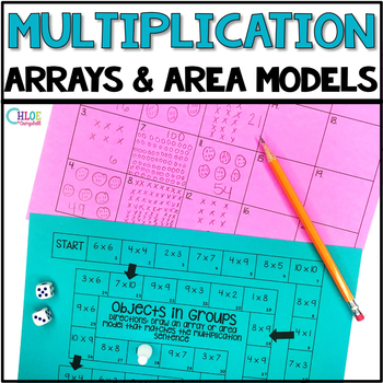Multiplication: Draw Arrays and Area Models Board Game
