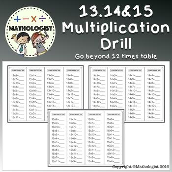 Multiplication Drills 1-12 Teaching Resources | Teachers Pay Teachers