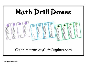 Multiplication Drill Down Cards