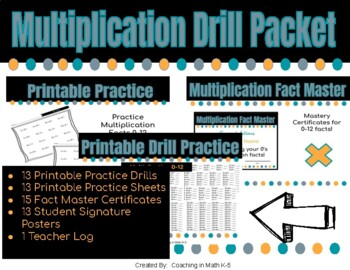Multiplication Drill Packet