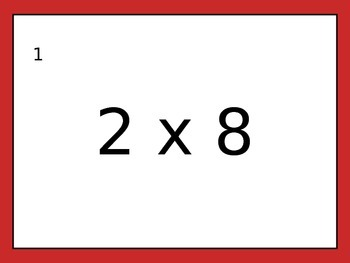 Multiplication Drills 2