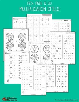 Multiplication Drills Sheets, Basic Multiplication Practice Worksheets