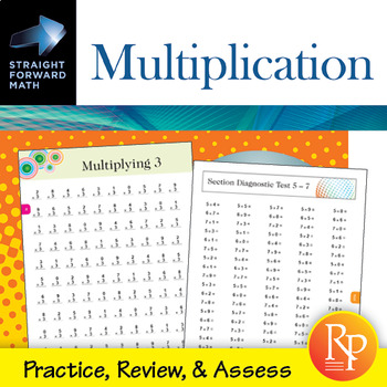 Multiplication Drills: Straight Forward Math