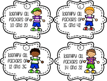Multiplication Drills - Task Cards