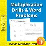 Multiplication Drills & Word Problems