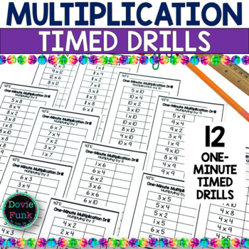 Multiplication Drills Worksheets Timed Fact Practice