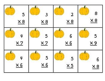 Fall Multiplication Games