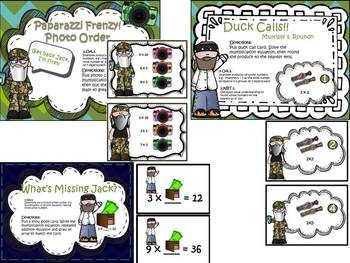 Multiplication & Division Duck Dynasty Games!!