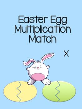 Multiplication Easter Egg Matching Game