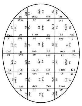 Multiplication Egg Puzzle
