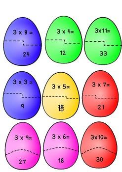 Multiplication Egg match