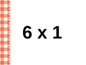 Multiplication Electronic Flash Cards - Set B