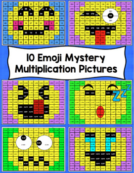Multiplication Emoji Mystery Pictures