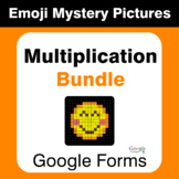 Multiplication Emoji Mystery Pictures Bundle - Google Forms