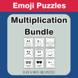 Multiplication - Emoji Picture Puzzles Bundle