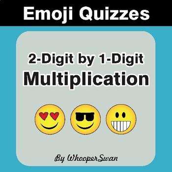 Multiplication Emoji Quiz (2-Digit by 1-Digit)