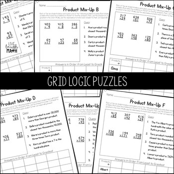 Multiplication Enrichment: Multiply Logic Puzzles