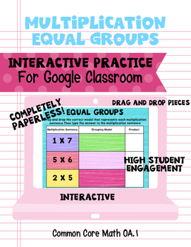 Multiplication-Equal Groups Interactive Practice