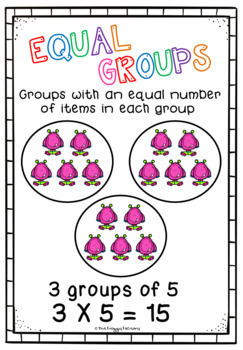 Multiplication Equal Groups Worksheets - NO PREP Printables