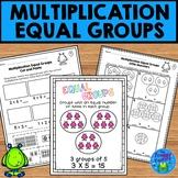 Multiplication Equal Groups Worksheets NO PREP Printables