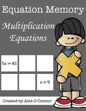Equation Memory: Multiplication Equations