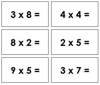 Multiplication Equation Slips