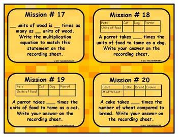 Multiplication Equation Task Cards
