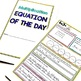 Multiplication Equation of the Day: Multiplication Fact Booklet