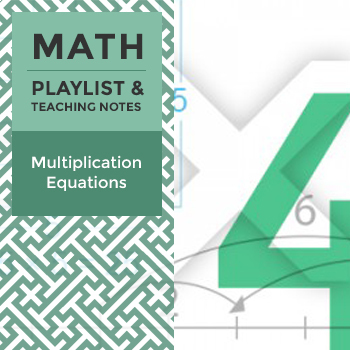 Multiplication Equations - Playlist and Teaching Notes