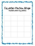 Multiplication Equations Bingo